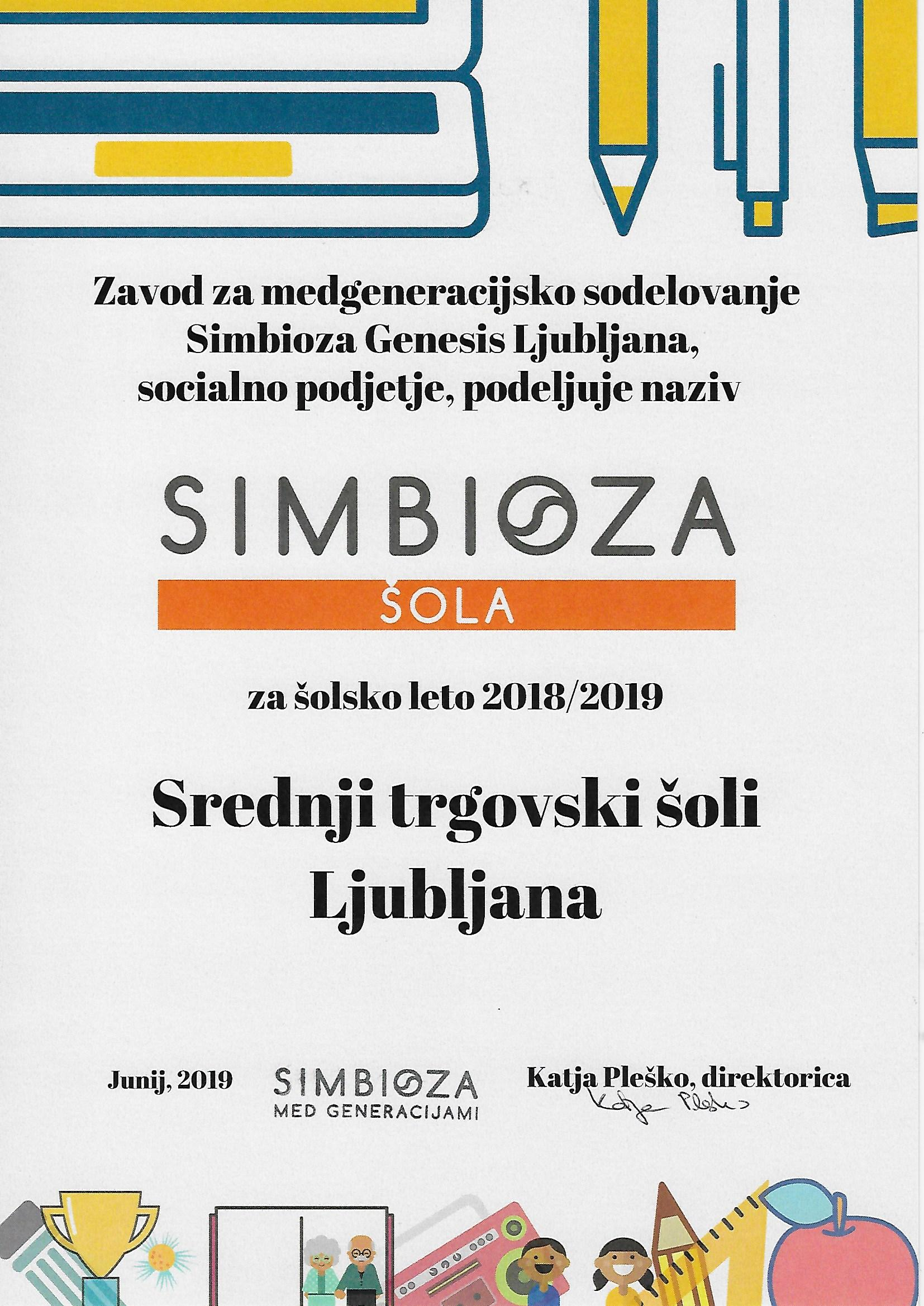 Simbioza 2018/19